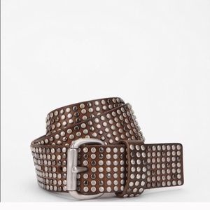 Liebeskind Berlin Pin-Stud Leather Studded Belt